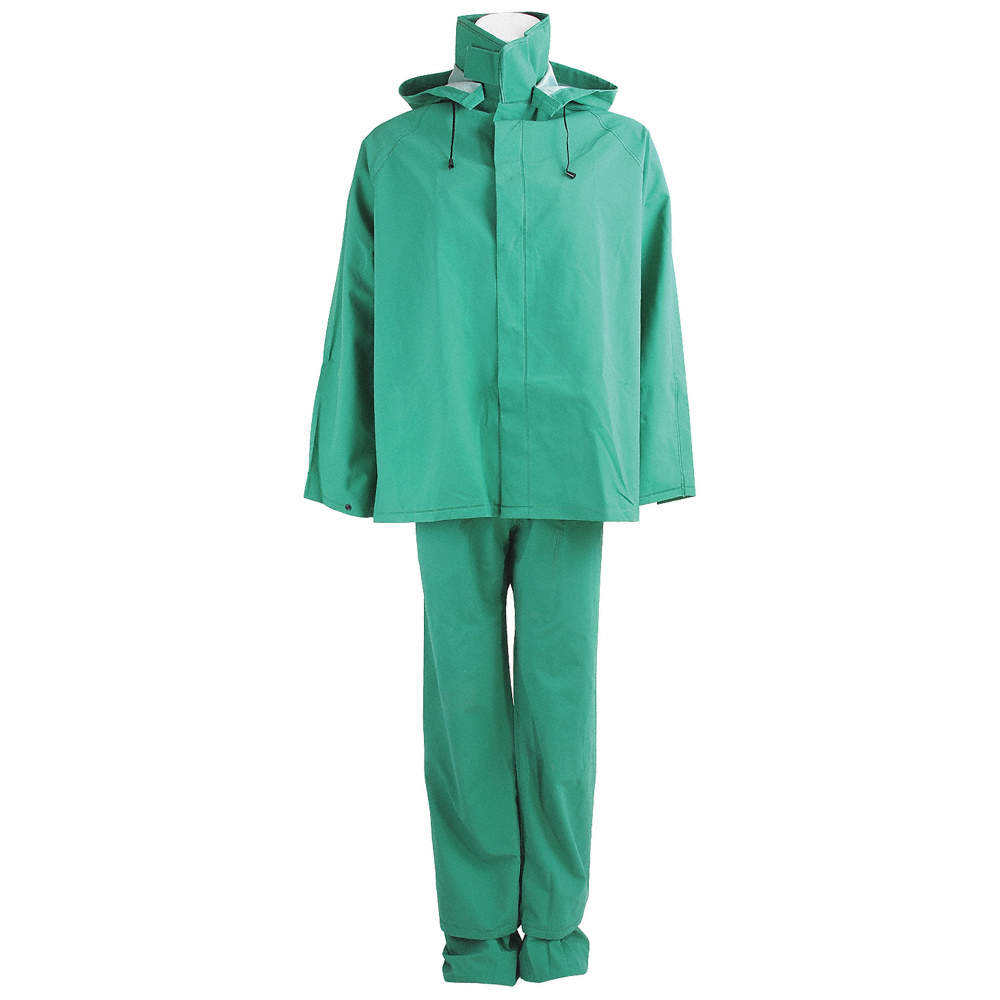 Custom Polyester Coated PVC Clothing Reflective Rain Suit