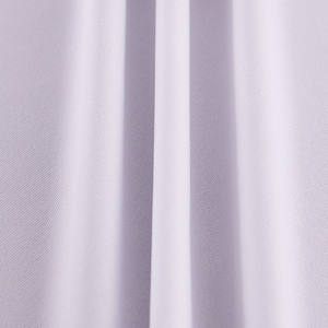 Eco Friendly Recycle Breathable 100% polyester Elastic Fabrics White Color