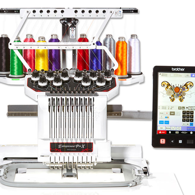 Brother Entrepreneur Pro X PR1050X Embroidery Machine & Hat Hoops kits