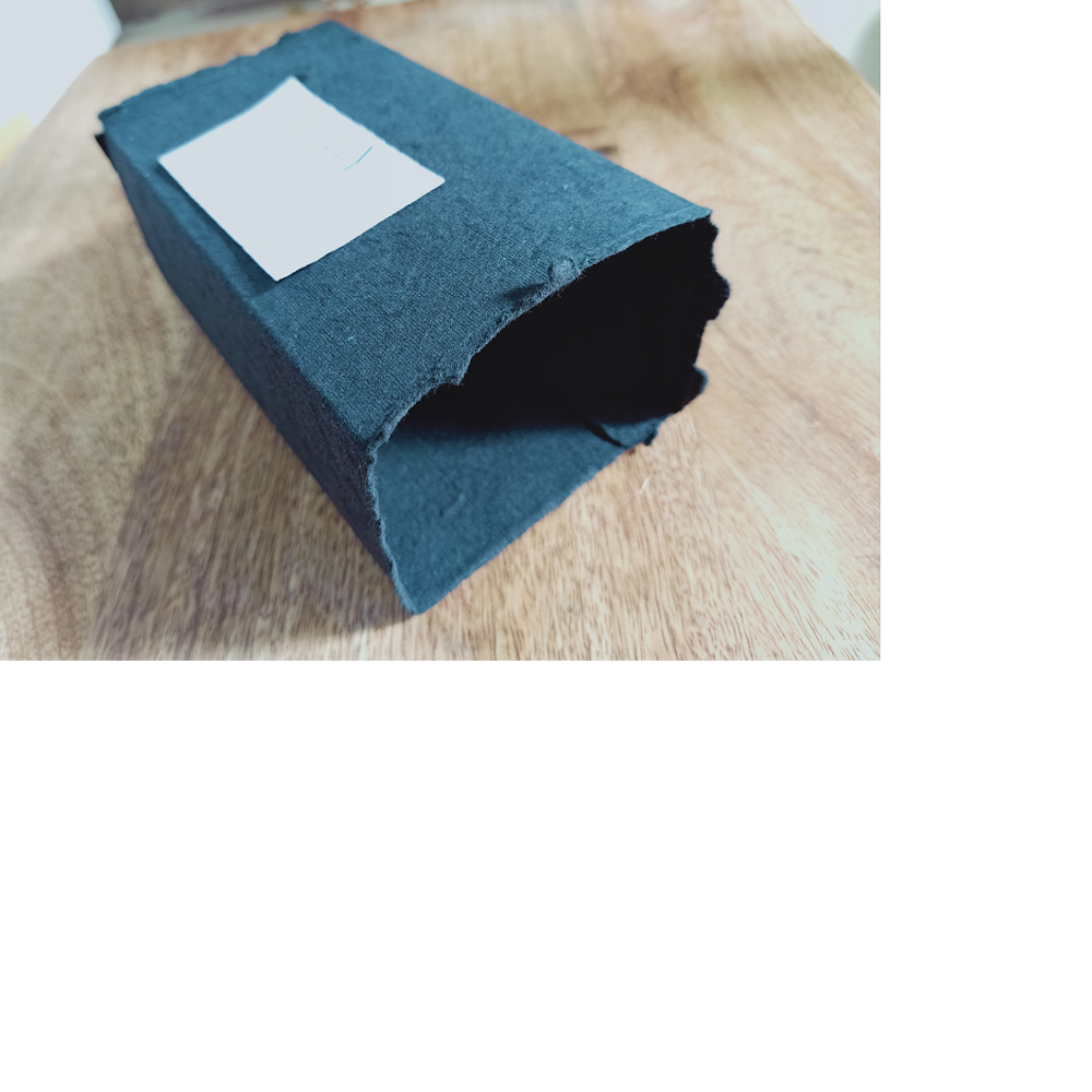 deckled edged denim paper folding boxes