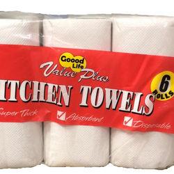 Kitchen Towel (6 Rolls per bag)