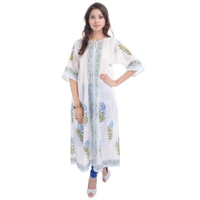 block print kurtis handmade cotton dress designer bhopali floral print tunic wholesale order