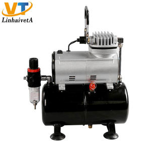 AC-186 Draagbare Air Brush Machine Kit Mini Airbrush Compressor Met Tank