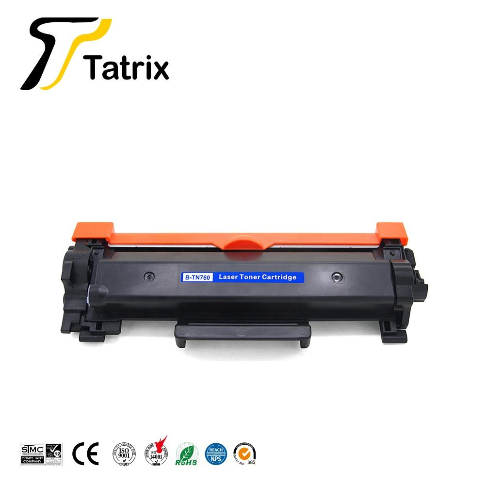 Tatrix TN-760 TN760 TN 760 Premium Compatible Laser Black Toner Cartridge for Brother Printer HL-L2390DW MFC-L2710DW