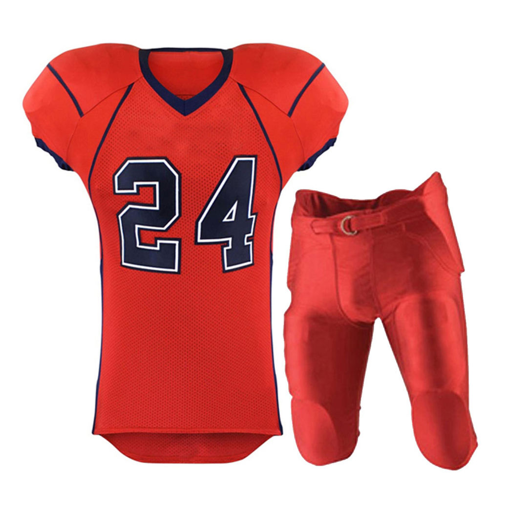 Latest design printed wholesale sublimated American football uniform