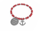 Designed in Italy red bead bracelet with anchor pendant fashionable jewelry