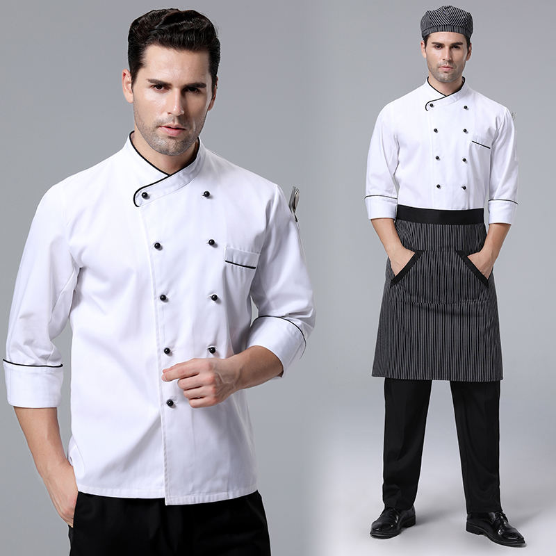 Hotel Restaurant Kitchen Bakes Cake Overalls Unisex Chef Design Uniform Jacket