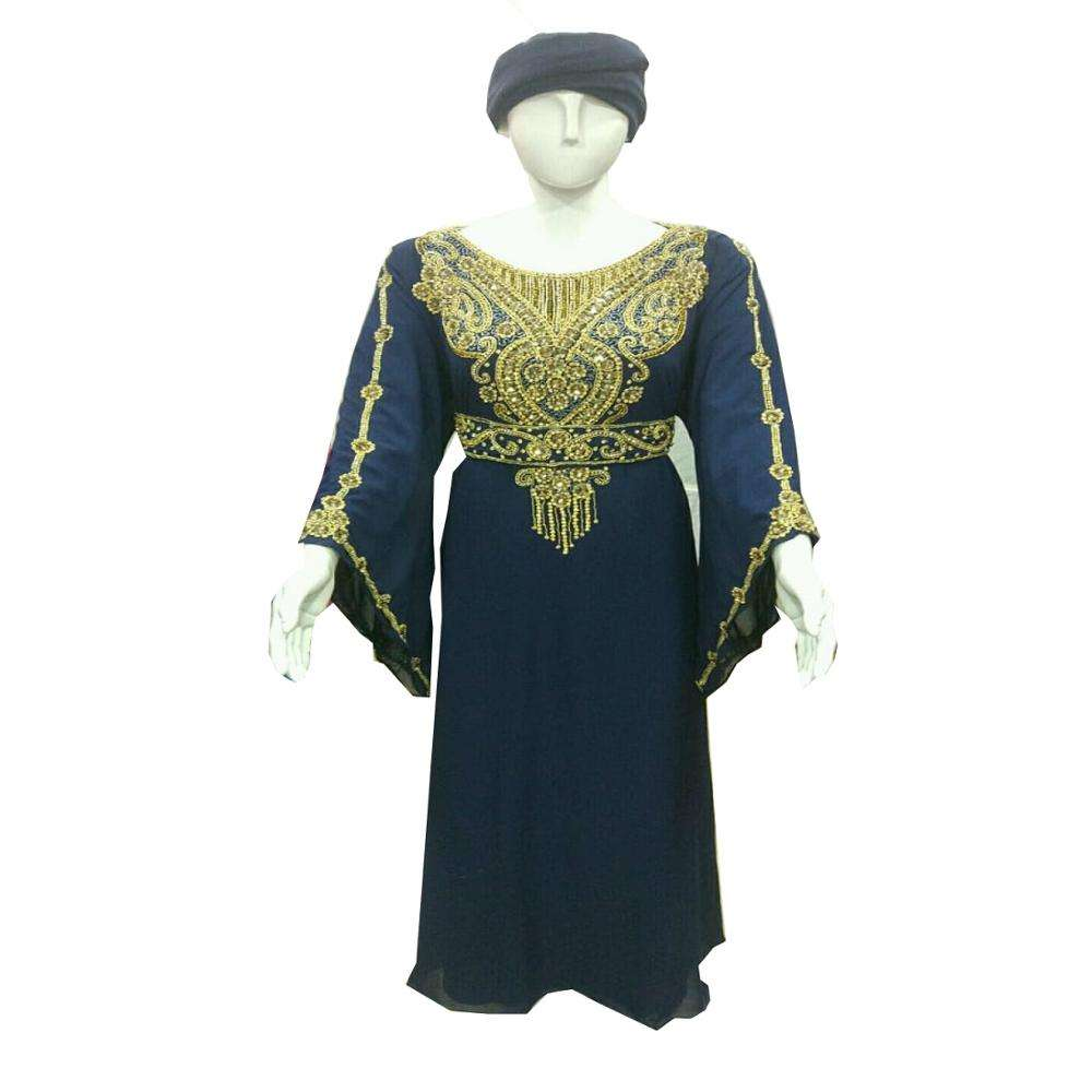 Most Elegant Wedding Wear Islamic Crystal Beaded Kaftan Abaya