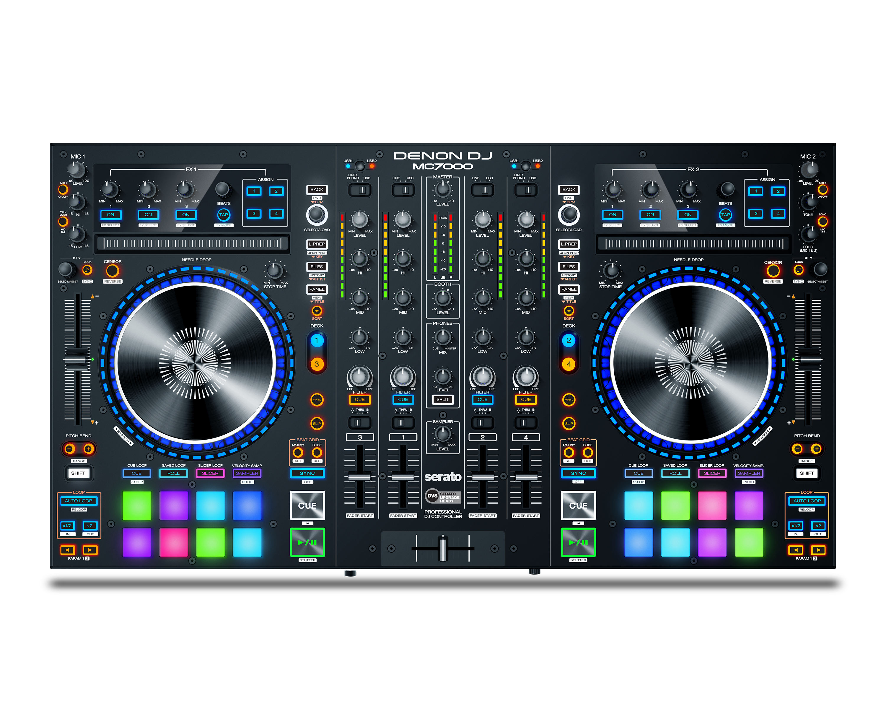 ข้อเสนอพิเศษสำหรับ Denon DJ MC7000 4-Channel Serato DJ CONTROLLER/Digital Mixer Dual USB