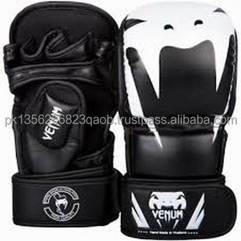 Leather Gel Tech MMA Grappling Gloves Training Fight Punch Bag Sparring Training boxing Glove