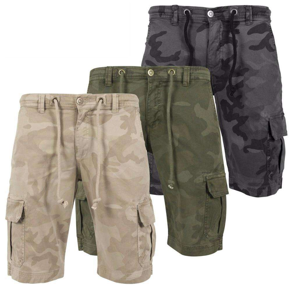 Heren Korte Cargo 6 Pocket 3/4 Shorts