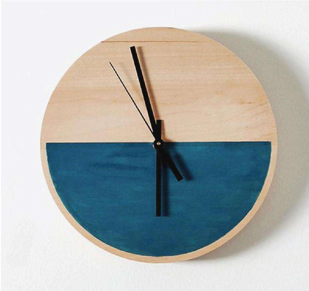 Sea level design wall clock, wooden quartz clock made in Vietnam now on sale