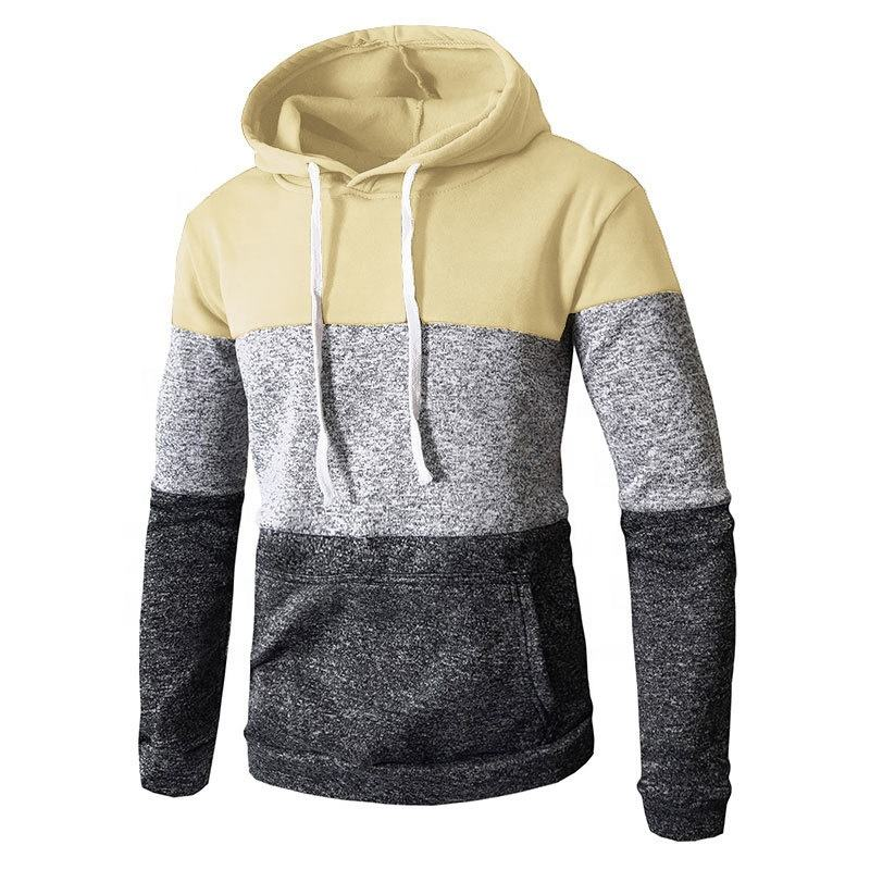 Awesome colorful panels smooth and comfortable Pullover design flexible fleece new design custom hoodie for men