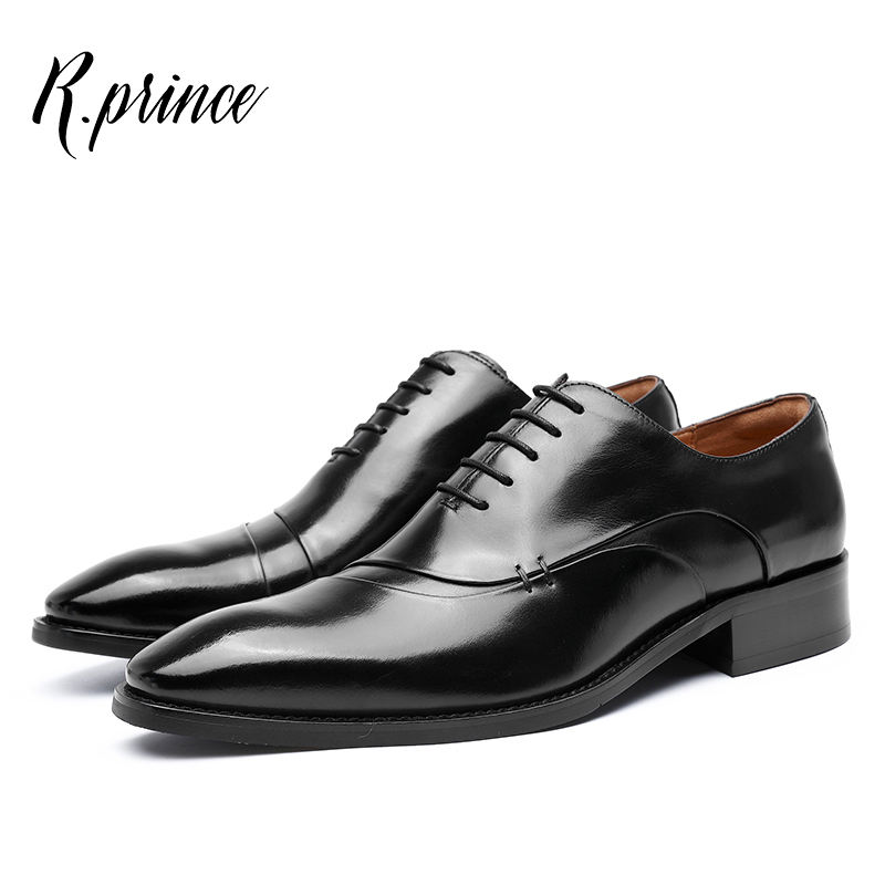 R.Prince Oxford Formal Mens Genuine Leather Shoes