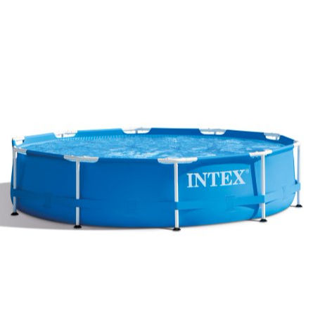 "durable above ground pool Intex 28202 Metal Frame Round Swimming Pool 12ft x 30"" With Filter Pump"