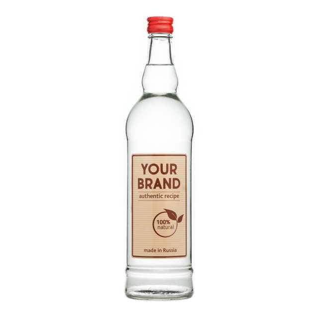Private label economy vodka 0,5 L from Russia