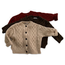 DE MARVI Kids Children Wool Cardigan girls boys twisted knitted cardigan sweater OEM possible MADE IN KOREA
