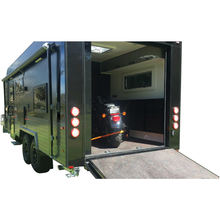 Aluminum rear deck carrier China motorhome rv trailer toy hauler for sale