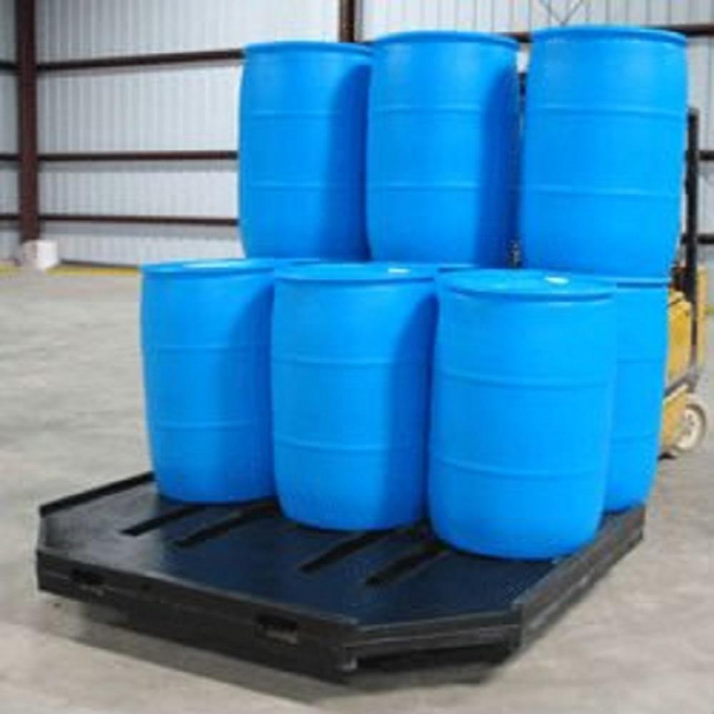 Empty Brand New 220 Litre Blue Plastic HDPE Drum for sale