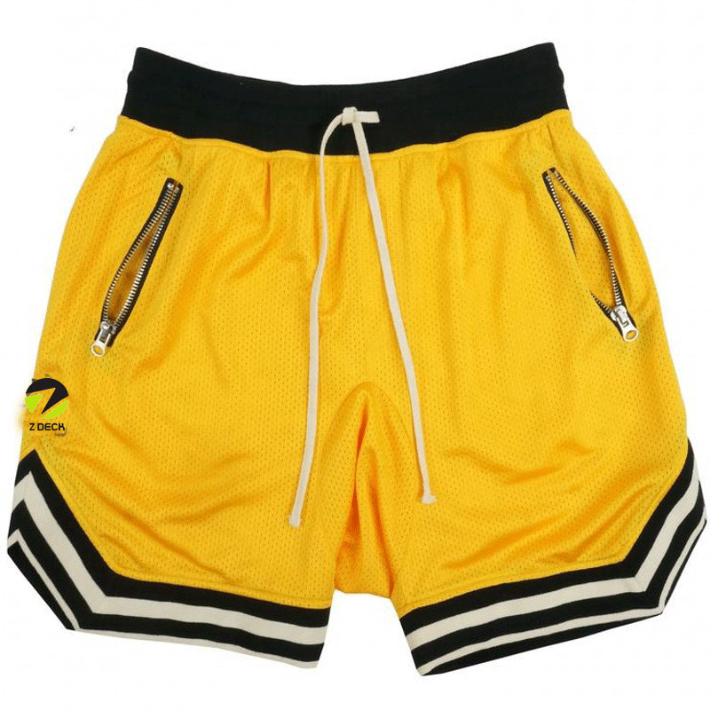 Groothandel Custom Logo Polyester Mens Sport Gym Sweat Shorts Custom Mesh Workout Shorts