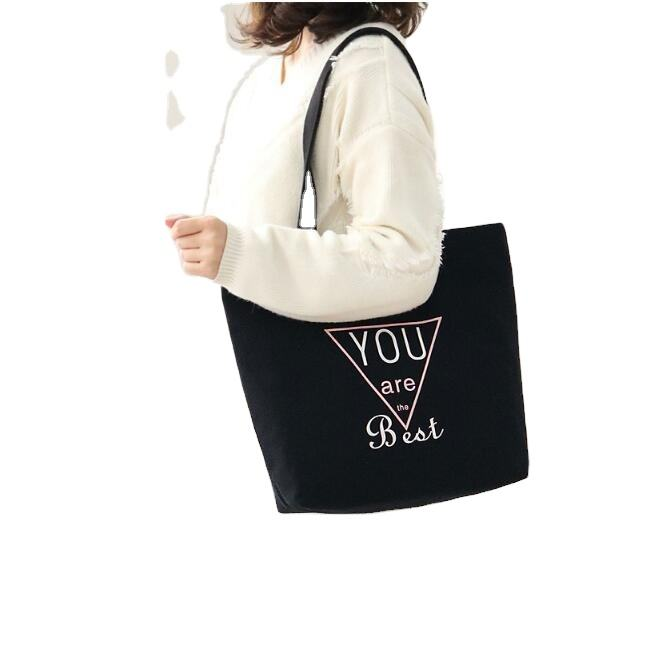 2020 China Manufacturer Custom Logo Printed Promotional Cotton Canvas Shopping Tote Bag