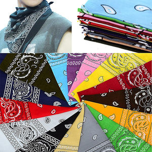 Fashion Design Sublimation Custom Print Seamless Cotton Scarf Bandana