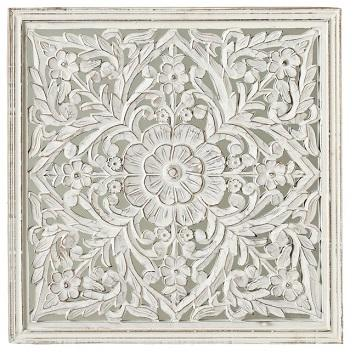 Indian wood carved wall art