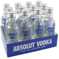 Natural 750ml clear absolut Vodka Spirit Glass Bottle with cork