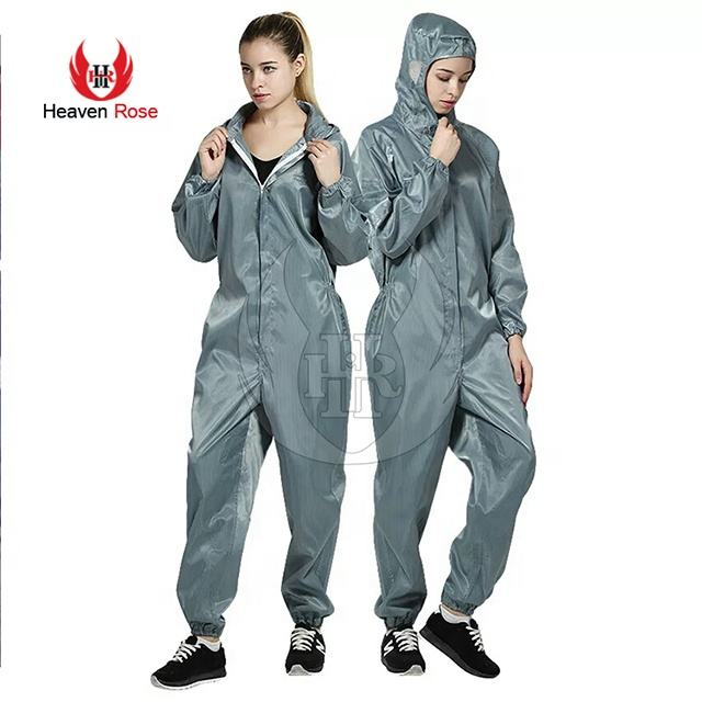 Women Anti-Static Clothing Hooded Dust-Proof Coveralls Clean-room Garments Factory Clean Food Paint Work Clothing