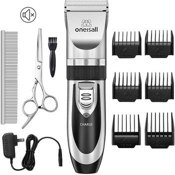 New-oneisall Dog Shaver Clippers Low Noise Rechargeable Cordless Electric Quiet Hair Clippers Set for Dogs Cats Pets