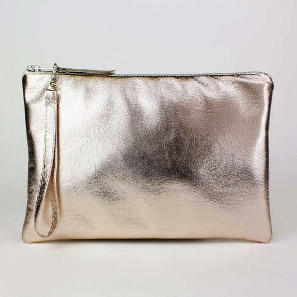 Small Metallic Leather Coin Pouch (multiple colors Available)