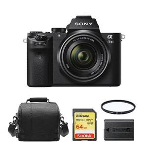 Sony A7 II Kit Sel 28-70 Mm F3.5-5.6 OSS + 64GB Kartu SD + Tas Kamera + NP-FW50 Baterai + Hoya UX UV 55 Mm Filter