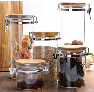 Borosilicate Glass Jars with Airtight Lid Purchase Functional and Stylish Sealed Jars | Shop Glass Food Storage Containers India