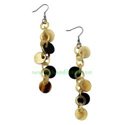 Handmade Buffalo Horn Earrings from Vietnam HD30158