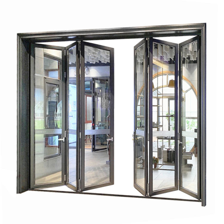 China Wholesale Patio Glass Steel Entry Metal Door