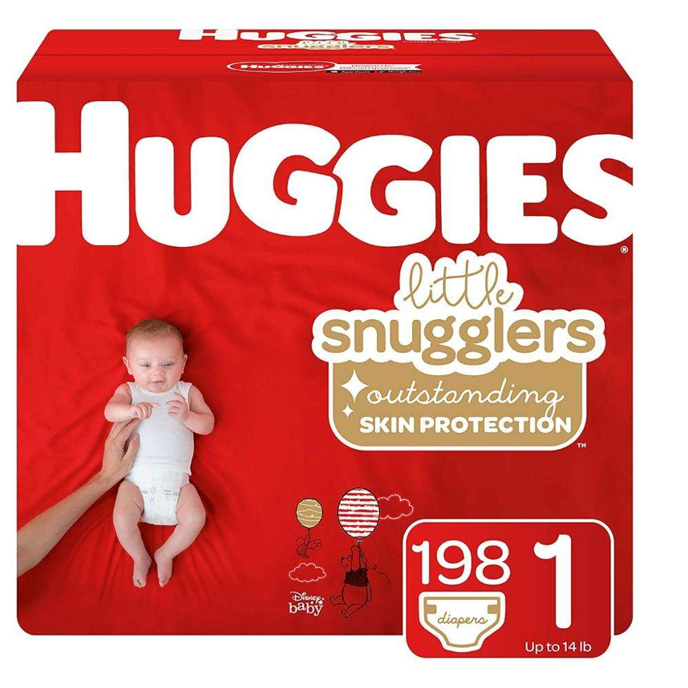 New Wholesale Supply - Comfortable Little Snugglers Baby Diapers Size 1 & 198 Ct