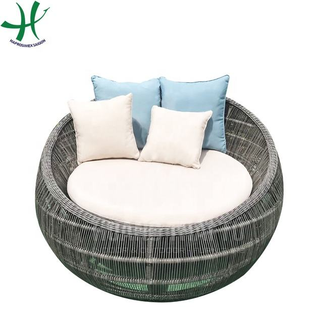 Outdoor and Out Door Living Room Poly Rattan Chair with Cushion