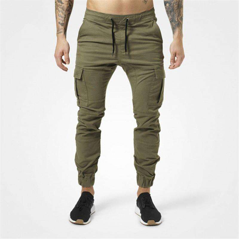 Custom katoen polyester spandex glad proces fitness gym casual tapered fit jogger zweet broek