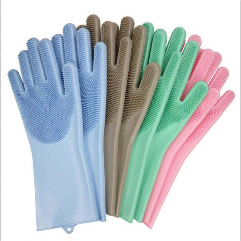 Soft Dusting Cleaning Dishwasher Scrubbing Magic Household Silicon Brush Glove