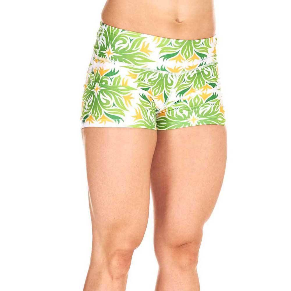Sublimated Slim Fit Ladies Yoga Shorts Polyester Made Multi Color Running and Training shorts