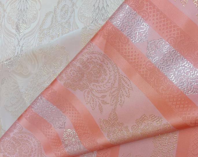 Polyester Metallic Jacquard Weaving Fabric for fashion home decoration high quality K198C