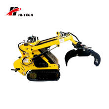 small hydraulic lifting arms sugar cane grab attach front rotating log wood grapple loader for sale