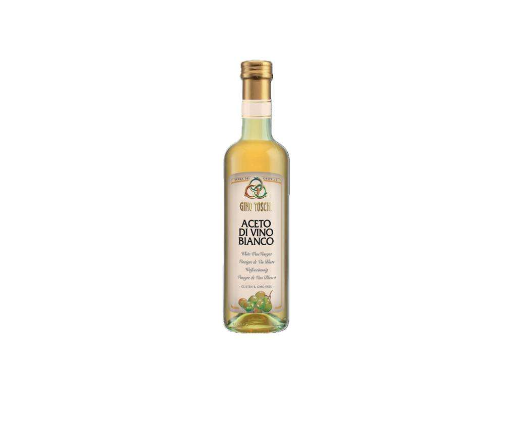 White Wine Vinegar 500ml Made in Italy Bottles and Bulk for Salat Dressing