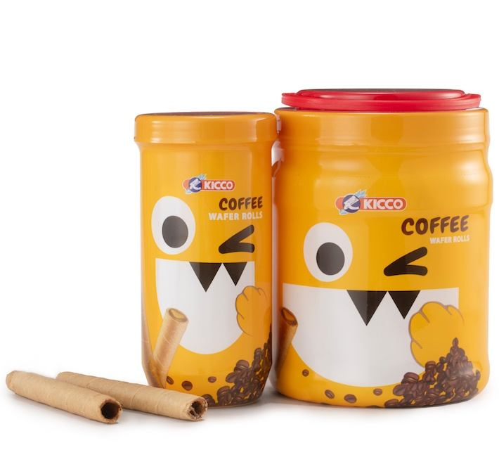 Trendy monster cartoon Indonesia Kicco wafer sticks with cream fillings
