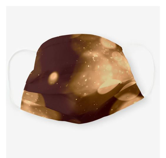 Sparkle and Bokeh Design in browns Cloth Sublimation face-mask Washable and Comfortable Face-mask