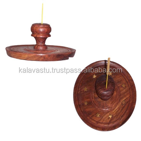 wooden incense stick holder & ash catcher