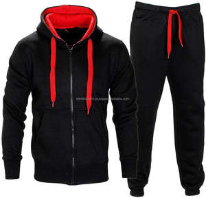 Wholesale cheap fleece Jacket And Joggers Pants tracksuit plain sweat suit men for high quality men