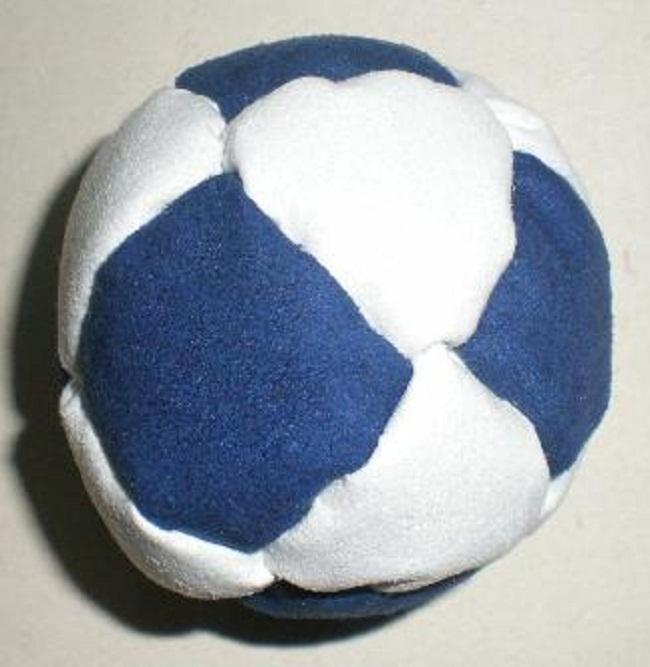 Footbags Hacky sacks made by leather Plastic Pellets and Sand Filling