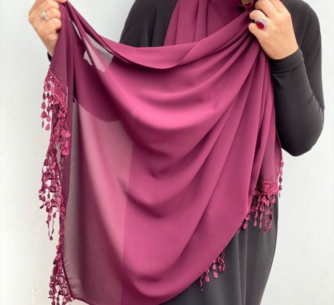 2020 new latest beautiful hollow flower lace chiffon scarf designs women elegant hijab