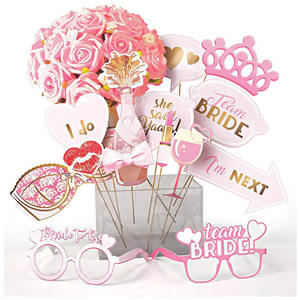 Nicro New Product 15 Pcs Pink Bachelorette Bridal Shower Photo Prop